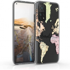 KW TPU Silicone Case Xiaomi Mi 10T / Mi 10T Pro - World Map Travel (53620.02)