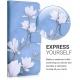KW Wallet Case Xiaomi Mi 10T / Mi 10T Pro - Magnolias Taupe / White / Blue Grey (53793.01)