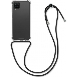 KW Crystal TPU Necklace Case Samsung Galaxy A12 - Transparent / Black (54453.01)