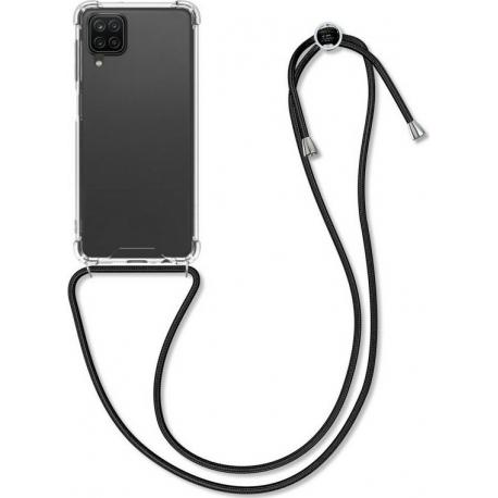 KW Crystal TPU Necklace Case Samsung Galaxy A12 - Transparent / Black (54453.01)