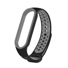 OEM Replacment band strap for Xiaomi Mi Band 5 Dots - Black/Grey