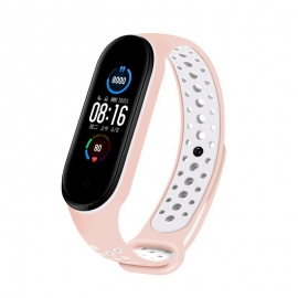 OEM Replacment band strap for Xiaomi Mi Band 5 Dots - Pink/White