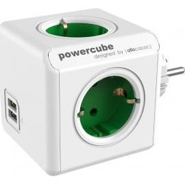 Allocacoc PowerCube Original USB 4 Θέσεων & 2 Θύρες USB - Green (1202GN/DEOUPC)
