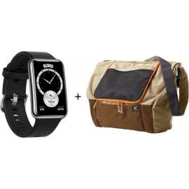 Huawei Watch Fit Elegant Black + Terranation Bag Ika Kopu 29lt