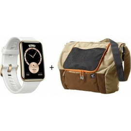 Huawei Watch Fit Elegant White + Terranation Bag Ika Kopu 29lt