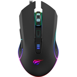 Havit Gaming Mouse Gamenote MS1018 RGB 1000-3200 DPI - Black