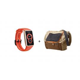 Huawei Band 6 Orange + Terranation Bag Ika Kopu 29lt
