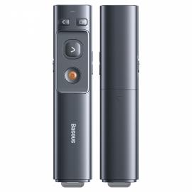 Baseus Orange Dot Wireless Presenter , Laser Pointer - Grey (ACFYB-0G)