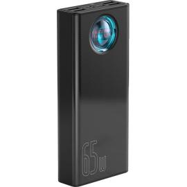 Baseus Powerbank PD+QC 30000mAh 4xUSB/Type-C/Lightning Digital Display 65W Black