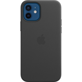 Apple Leather Case iPhone 12/12 Pro with MagSafe Black