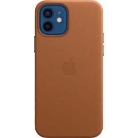 Apple Leather Case iPhone 12/12 Pro with MagSafe Saddle Brown