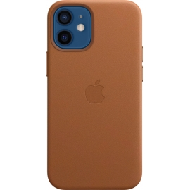 Apple Leather Case iPhone 12 mini with MagSafe Saddle Brown