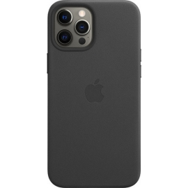 Apple Leather Case iPhone 12 Pro Max with MagSafe Black