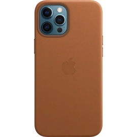 Apple Leather Case iPhone 12 Pro Max with MagSafe Saddle Brown