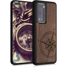 KW Wooden Case Huawei P40 Pro - Navigational Compass (52352.02)