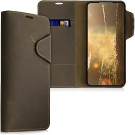 kalibri Wallet Case Samsung Galaxy S21 - Brown (54443.05)