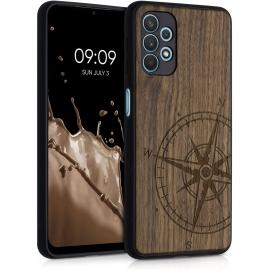 KW Wooden Case Samsung Galaxy A32 5G - Navigational Compass (54873.01)