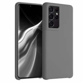 KW TPU Soft Flexible Rubber Samsung Galaxy S21 Ultra - Titanium Grey (54074.155)