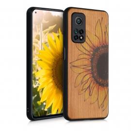 KW Wooden Case Xiaomi Mi 10T / Mi 10T Pro - Wood Sunflower Yellow / Dark Brown / Light Brown (53618.03)