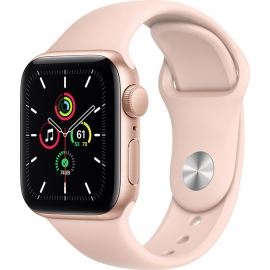 Apple Watch SE GPS Gold Aluminium Case 40mm with Pink Sand Sport Band
