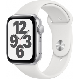 Apple Watch SE GPS Silver Aluminium Case 44mm with White Sport Band