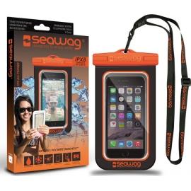 Seawag IPX8 Waterproof Case for smartphone - Black/Orange (Β5Χ)