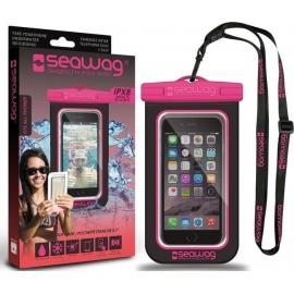 Seawag IPX8 Waterproof Case for smartphone - Black/Pink (Β3Χ)