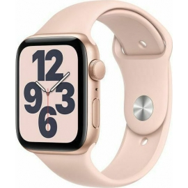 Apple Watch SE GPS Gold Aluminium Case 44mm with Pink Sand Sport Band