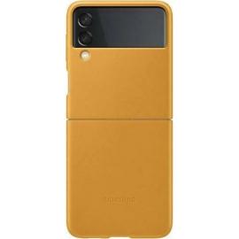 Samsung Leather Cover Galaxy Z Flip 3 5G Mustard