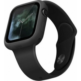Uniq Lino Silicone Case Apple Watch Series 4/5/6/SE (44mm) - Black (UNIQ-44MM-LINOBLK)