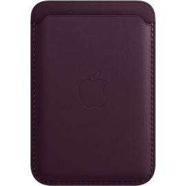 Apple Leather Wallet iPhone with MagSafe Dark Cherry