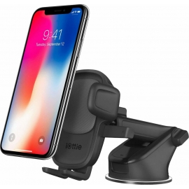 iOttie Easy One Touch 5 Dash+Windshield Car Mount - Black (HLCRIO171AM)