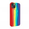Vivid Silicone Case Liquid Apple iPhone 13 Rainbow