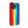 Vivid Silicone Case Liquid Apple iPhone 13 Pro Max Rainbow
