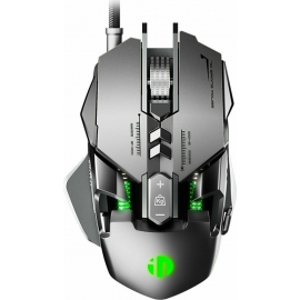 Inphic PG1 Wired Gaming Mouse 1.5m - Silver/Green