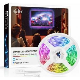 NiteBird Gosund SL1 Smart LED light strip Wi-Fi with Music Mode & Alexa / Google Home Voice Control , 2.8m