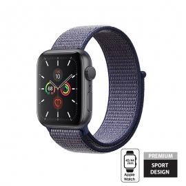 Crong Nylon Λουράκι Apple Watch SE/7/6/5/4/3 (42/44/45mm) - Midnight Blue (CRG-44NLB-MBL)
