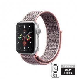 Crong Nylon Λουράκι Apple Watch SE/7/6/5/4/3 (42/44/45mm) - Light Pink (CRG-44NLB-ROSE)
