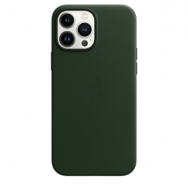 Apple Leather Case iPhone 13 Pro Max with MagSafe Sequoia Green
