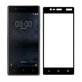 OEM Tempered Glass 3D Full Face Nokia 3 - Black