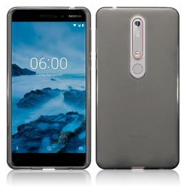 Terrapin Ημιδιάφανη Θήκη Σιλικόνης Nokia 6.1 / Nokia 6 2018 - Smoke Black