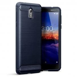 Terrapin Θήκη Σιλικόνης Carbon Fibre Design Nokia 3.1 - Dark Blue