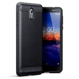 Terrapin Θήκη Σιλικόνης Carbon Fibre Design Nokia 3.1 - Black