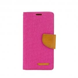 OEM Canvas Book Case Nokia 6 2018 - Pink