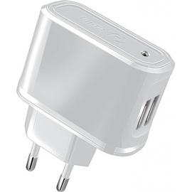 Celly Travel Adapter 2 USB 2.1A - White (TCUSB22W)