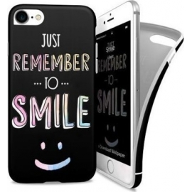 i-Paint Soft Case iPhone 7/8 Smile - Black