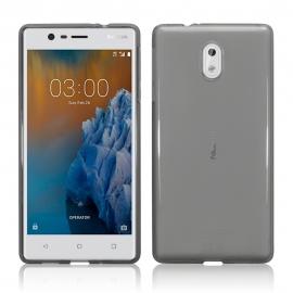 Terrapin Ημιδιάφανη Θήκη Σιλικόνης Nokia 3 - Smoke Black