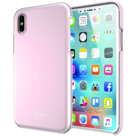 iLuv Stylish Case With Metallic Finish Apple iPhone X/Xs - Pink (AIXMETFPN)
