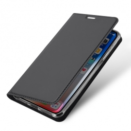 DuxDucis SkinPro Wallet Case iPhone XS Max - Gray