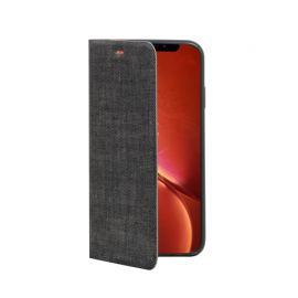OEM Vivid Fabric Book iPhone XR - Dark Grey